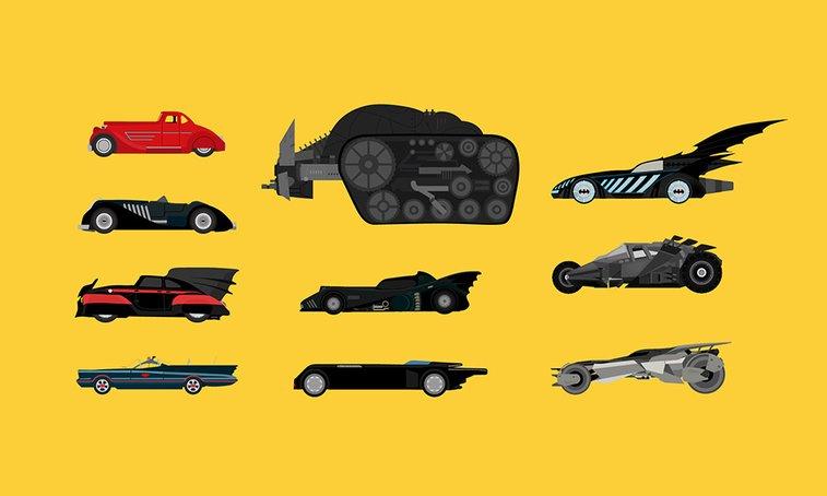 10 Iconic Batmobiles Illustrated | Highsnobiety
