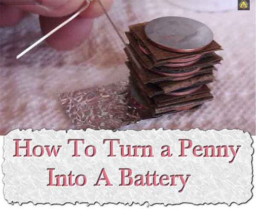 How To Turn a Penny Into A Battery - LivingGreenAndFrugally.com