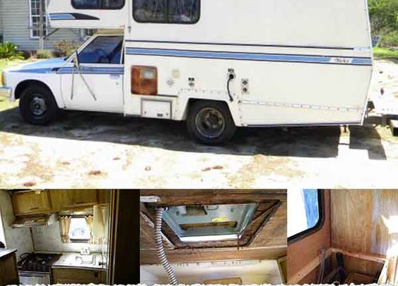 How To Repair, Remodel, & Restore, Old Camper Trailers, Motorhomes RV Interiors - LivingGreenAndFrugally.com