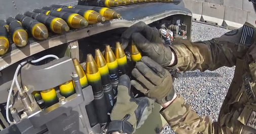 Loading An AH-64 Apache's 30MM Cannon Can Be A Pain In The Ass!
