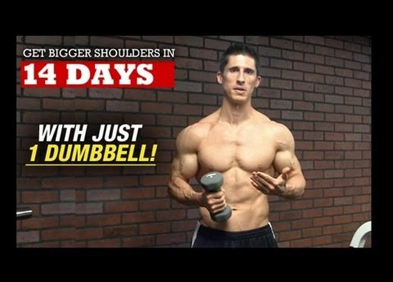 Bigger Wider Shoulders in 14 DAYS (With 1 DUMBBELL!) - YouTube