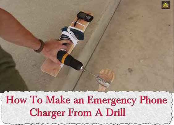 How To Make an Emergency Phone Charger From A Drill - LivingGreenAndFrugally.com