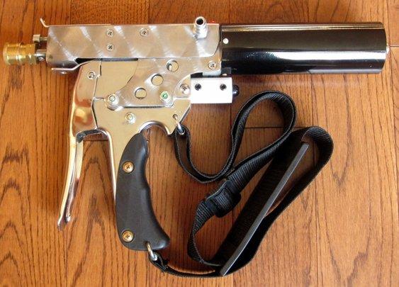 A homemade, 4 barrel .410 shotgun from a staple gun - YouTube