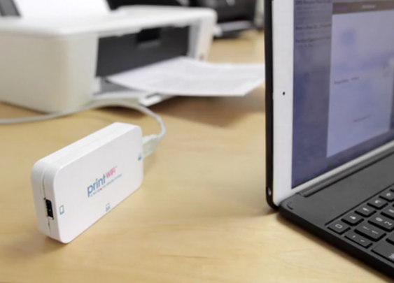 printWiFi enables secure mobile printing on non-wireless printers