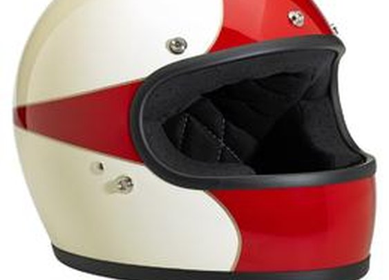 Lowbrow Customs / Biltwell Gringo LE Helmet - Scallop WHT/RED - Full Face DOT-approved Helmet
