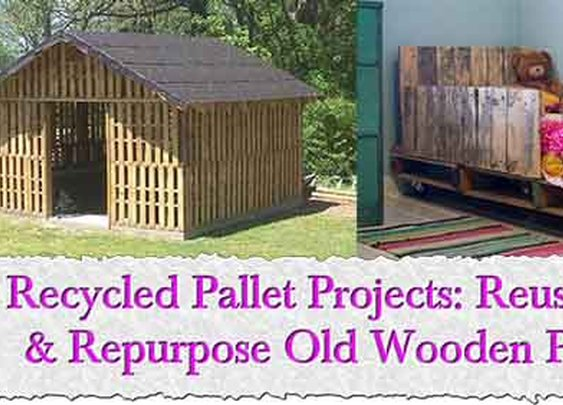 29 Recycled Pallet Projects: Reuse, Recycle & Repurpose Old Wooden Pallets - LivingGreenAndFrugally.com
