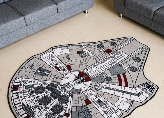 Tying The Room Together: A Millennium Falcon Area Rug   Geekologie