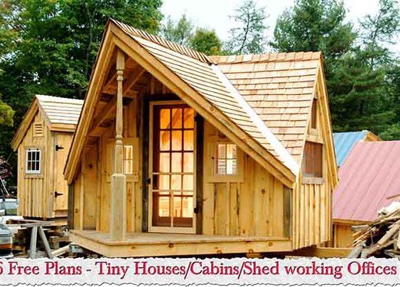 6 Free Plans - Tiny Houses/Cabins/Shed working Offices - LivingGreenAndFrugally.com