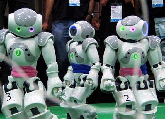 Robot Soccer: All Fall Down