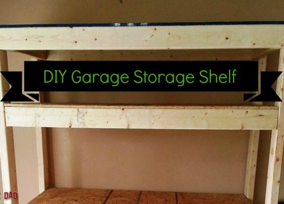 Build A Cheap Garage Storage Shelf
