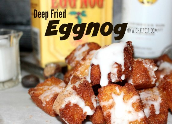 ~Deep Fried Eggnog…Glazed with Rum!