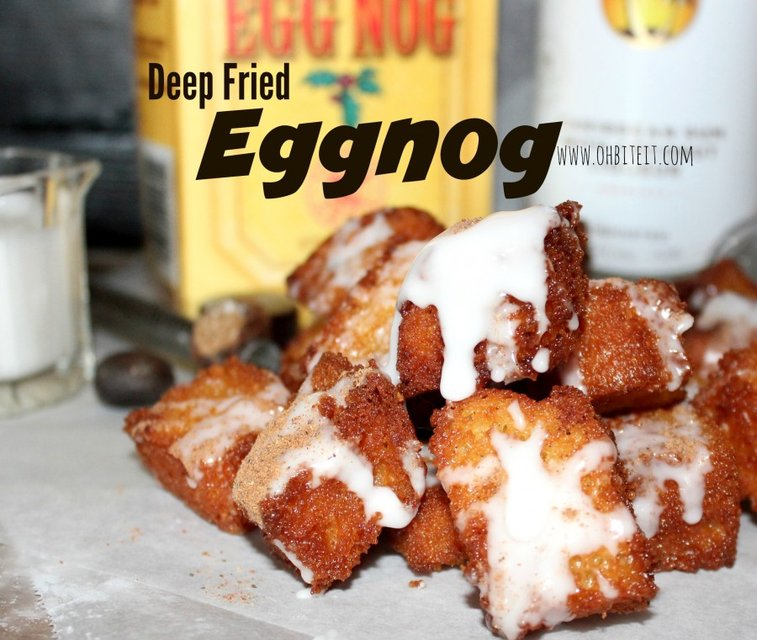 ~Deep Fried Eggnog…Glazed with Rum!
