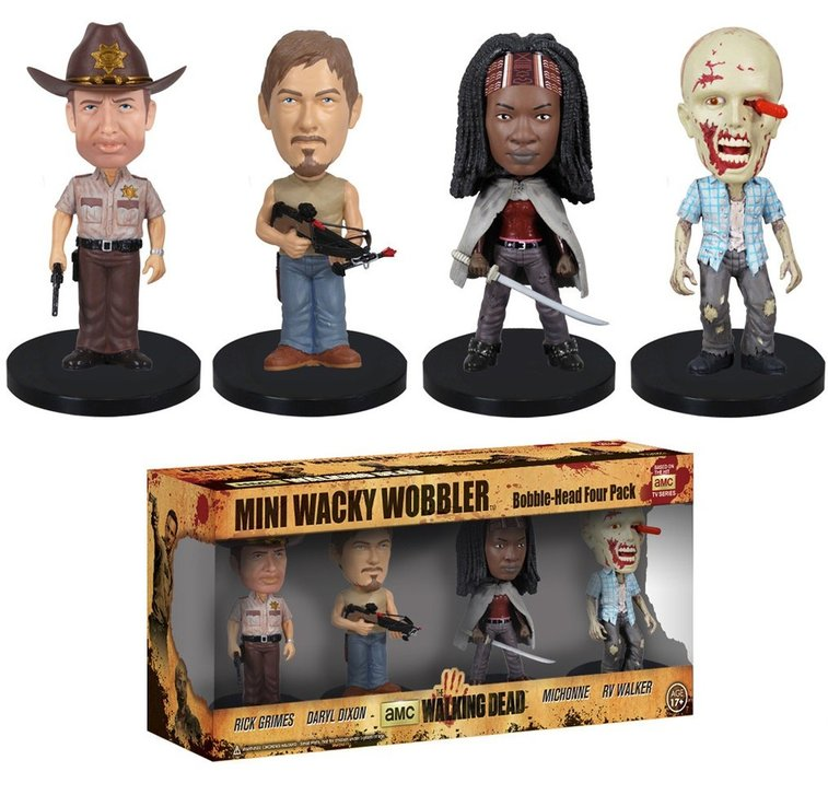 The Walking Dead Bobblehead Mini Wacky Wobblers by Funko - Whimsical & Unique Gift Ideas for the Coolest Gift Givers