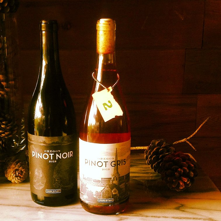 Oregon Advent: Day 2:  Fossil & Fawn Pinot Gris 2013.