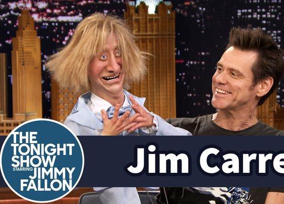 Jim Carrey Serenades His Jeff Daniels Ventriloquist'sDummy - YouTube