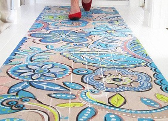 Painted Faux Rugs