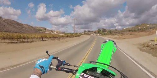 Twitch Stenberg wheelie for five miles on public streets