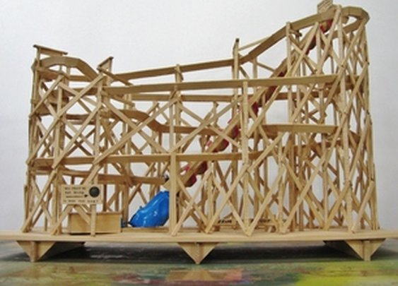 Wooden Marble Coaster - from a single 2x4