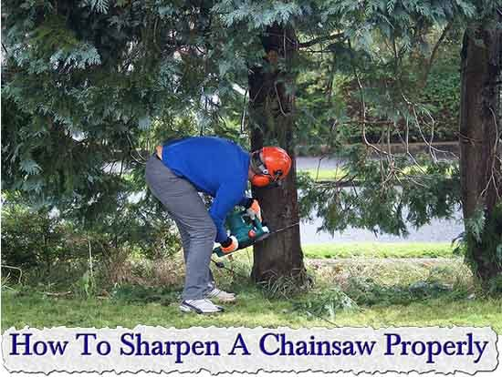 How To Sharpen A Chainsaw Properly - LivingGreenAndFrugally.com
