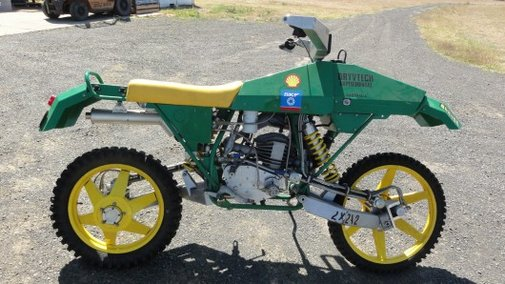 Drysdale's unique 2-wheel drive, 2-wheel steering motorcycle up for grabs