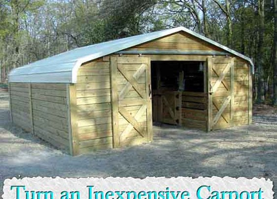 Turn an Inexpensive Carport Into an Amazing Barn - LivingGreenAndFrugally.com