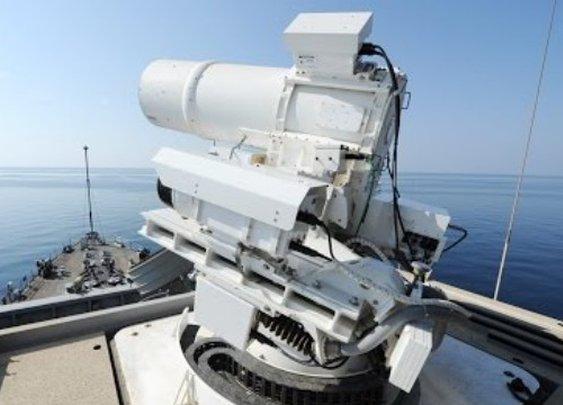 Watch The U.S. Navy's Laser Turret Blow Stuff Up