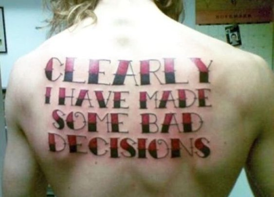 35 Regrettable Tattoo Choices | Daily Sanctuary