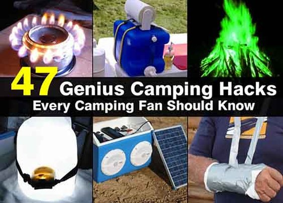 47 Genius Camping Hacks Every Camping Fan Should Know - LivingGreenAndFrugally.com