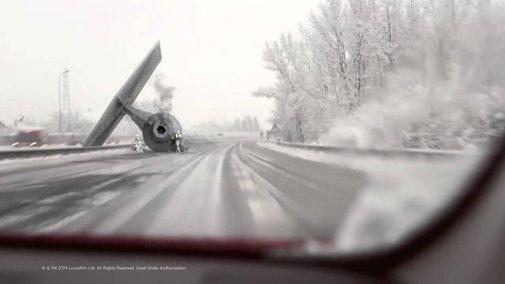TIE Fighter Wrek on Highway