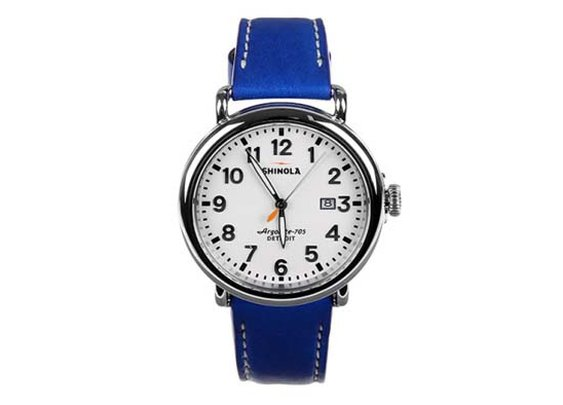 colette x Shinola Limited Edition Custom Blue Runwell Watch