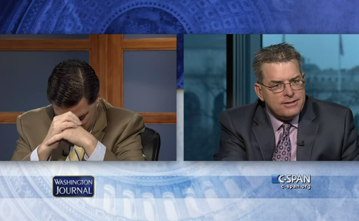 Mom calls into C-SPAN to tell her bickering pundit sons to stop bickering