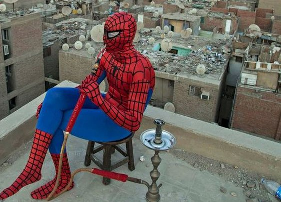 No power, great responsibility: the Spider-Man of Cairo