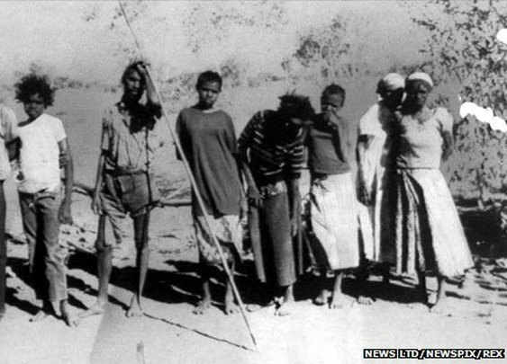 BBC News - The day the Pintupi Nine entered the modern world