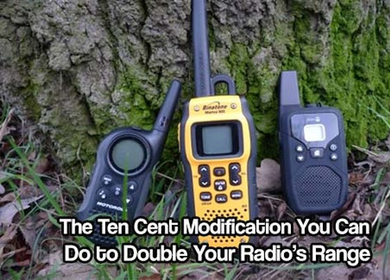 Ten Cent Modification You Can Do to Double Your Radio's Range - SHTF & Prepping Central