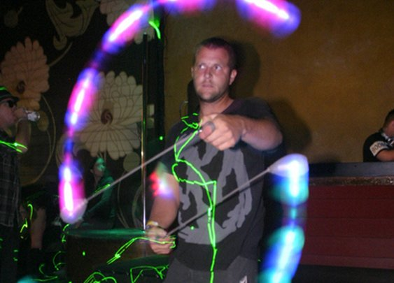 Cool Pics of People Playing with LED Rave Toys