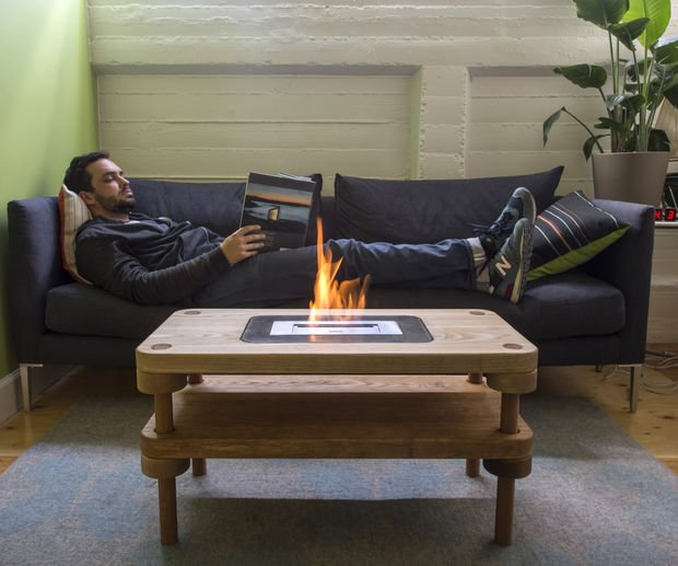 DIY Coffee Table Fireplace