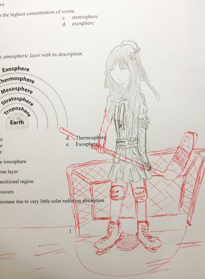 This Teacher Hilariously Finishes The Doodles Of His Students | Bored Panda