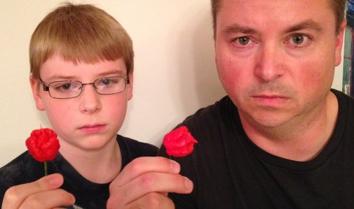 12-yr-old eats whole Carolina Reaper (Worlds Hottest Pepper)
