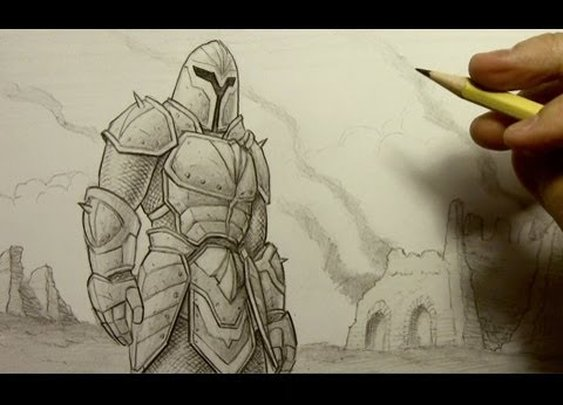 How to Draw Armor - YouTube