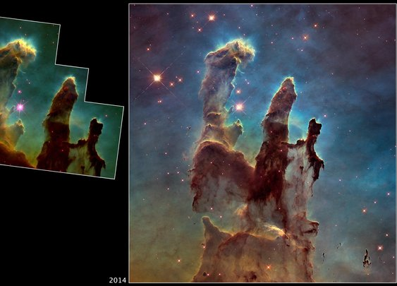 Hubble Revisits 'Pillars of God's Creation' for Stunning Photo