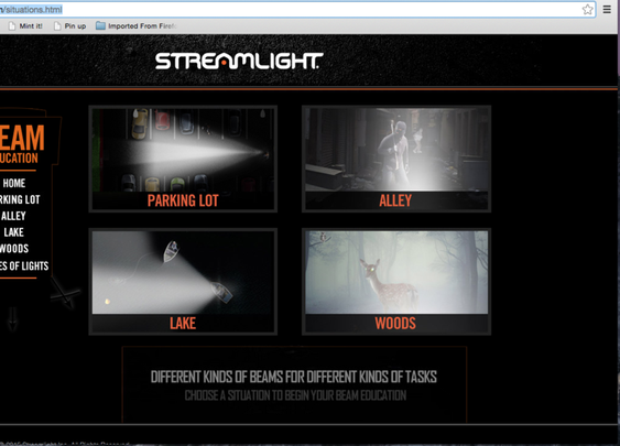Streamlight releases on-line flashlight beam demo site — lumensandgear.com
