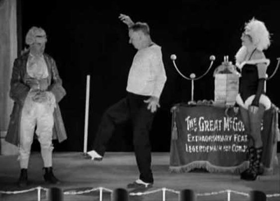 "W.C. Fields juggling as ""The Great McGonigle"" in ""The Old Fashioned Way"""
