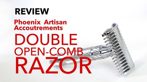 "Phoenix Artisan Accoutrements ""The Phoenix Double Open Comb Razor"" - Review - YouTube"