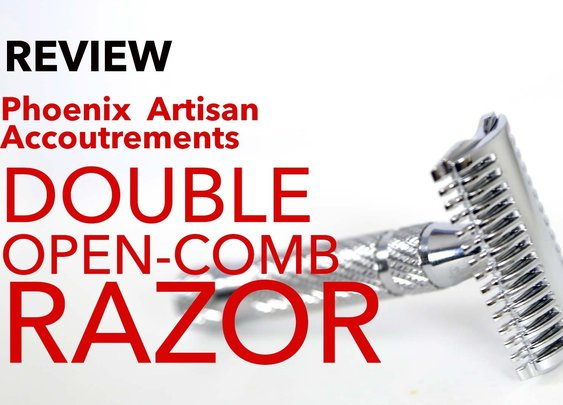 "Phoenix Artisan Accoutrements ""The Phoenix Double Open Comb Razor"" - Review - YouTube"