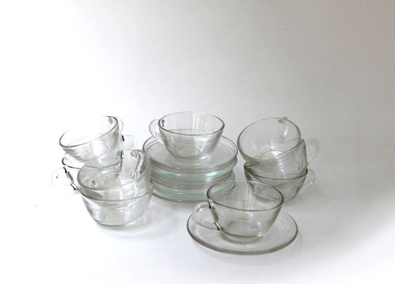 Retro 1960s French Duralex demi tasse clear glass by evaelena
