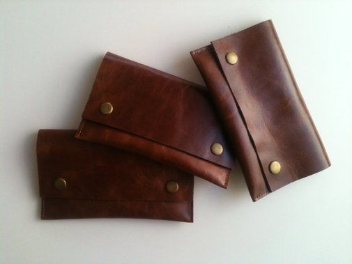 Pipe Tobacco Pouch  / Leather Tobacco Pouch by shamanleatherworks