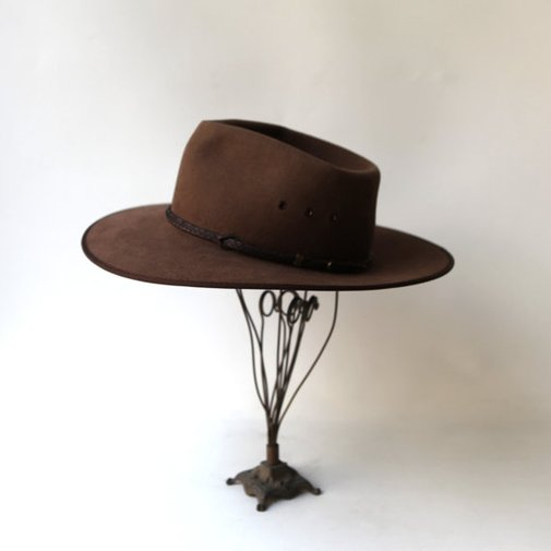 Vintage brown Cattleman Australian Akubra hat by evaelena on Etsy