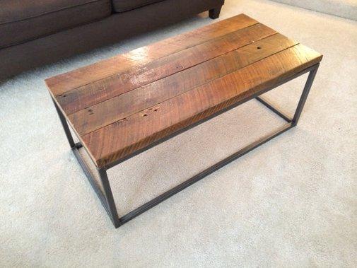 Reclaimed Cedar Wood Top Coffee Table  Handmade in by MotorStreet