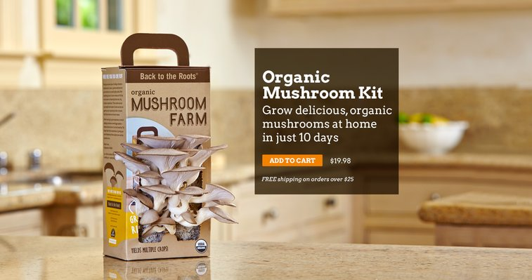 Back to the Roots | Free Shipping on AquaFarm & Mushroom Kit