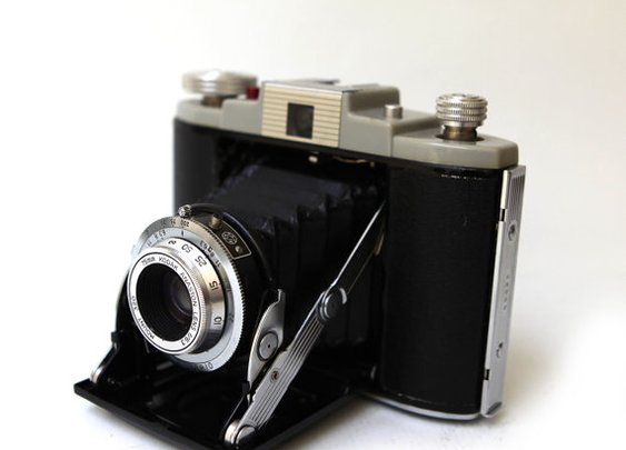 Vintage 1950s Kodak 66 Model II fold out camera by evaelena